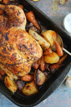summer roast chicken recipe (one pan)