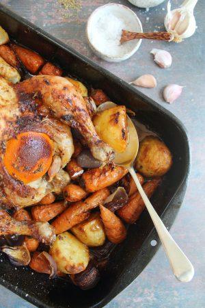 summer roast chicken recipe (one pan)