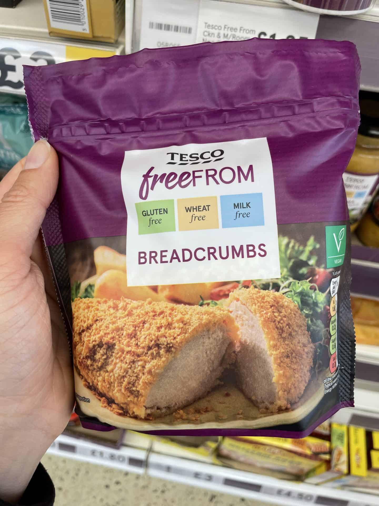 gluten free breadcrumbs tesco