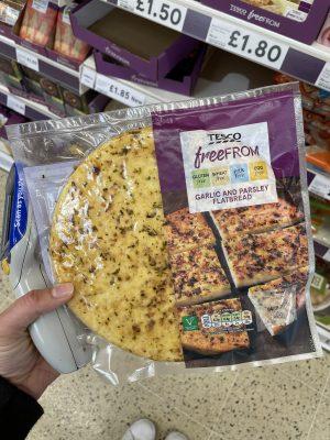 gluten free garlic bread tesco