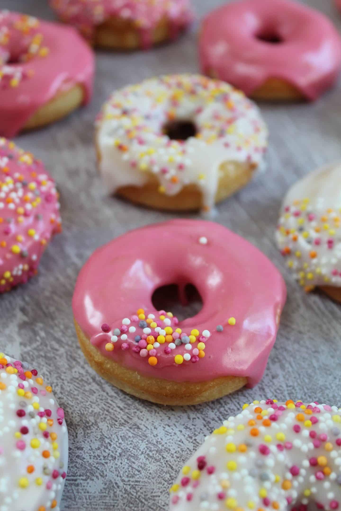 gluten free iced doughnuts
