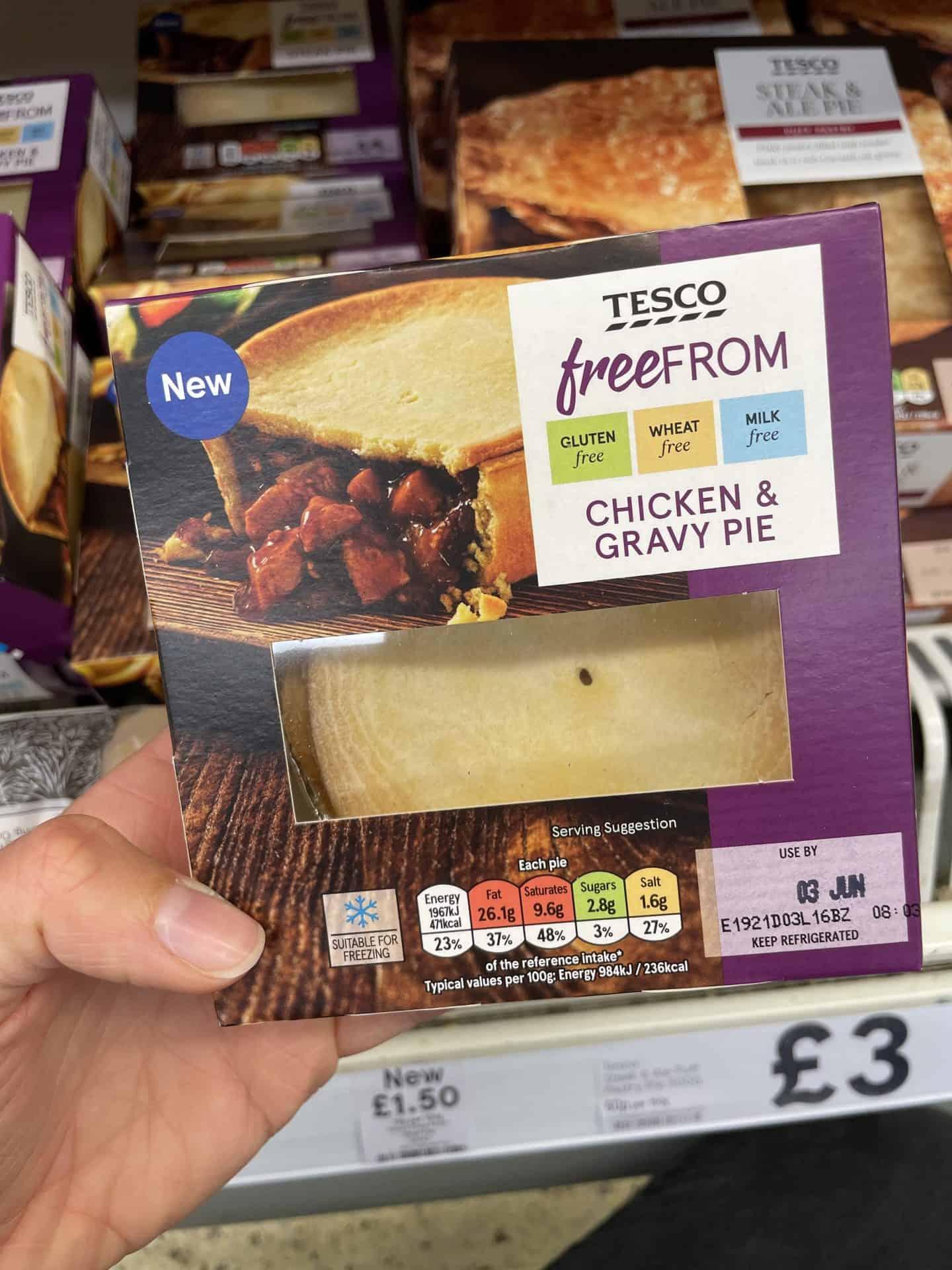 gluten free chicken and vegetable pie tesco 2