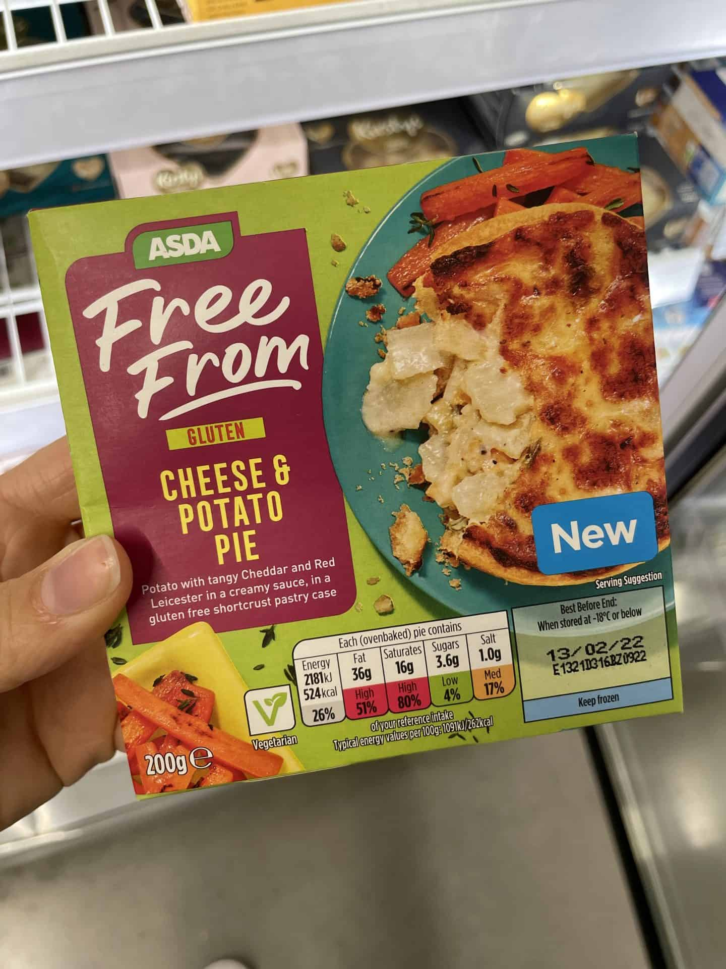 asda gluten free cheese and onion pie