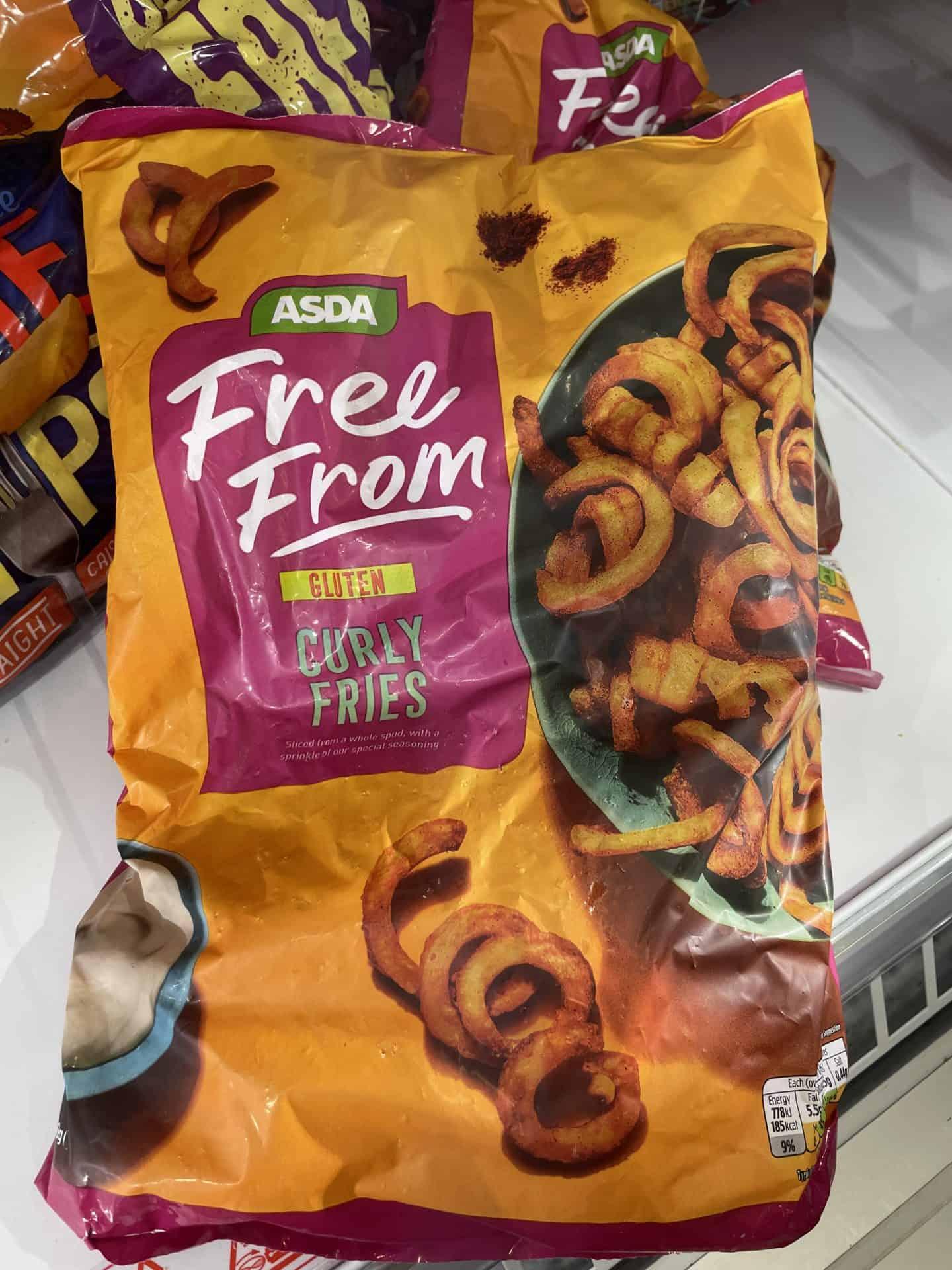 asda gluten free curly fries