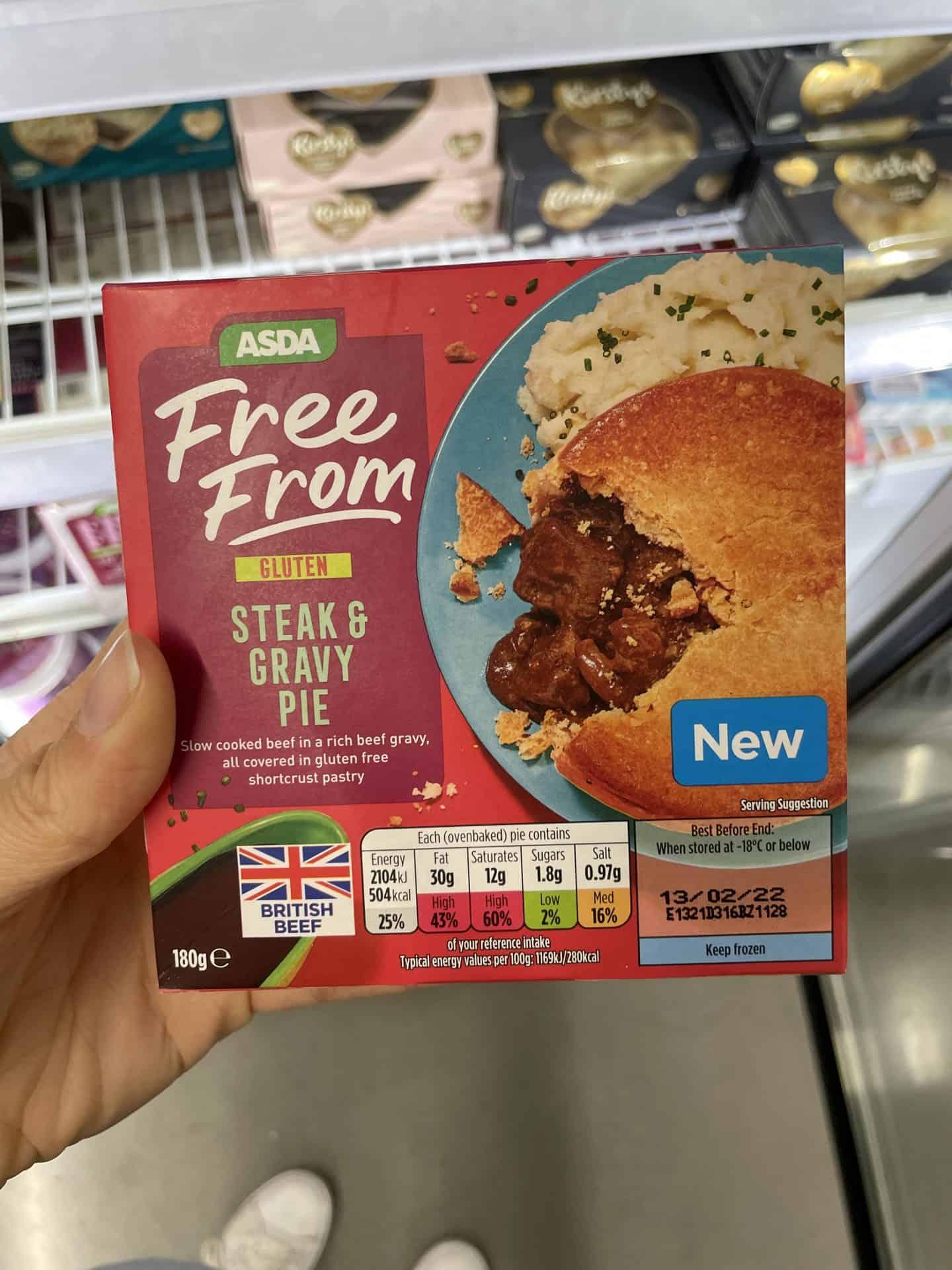 asda gluten free steak pie