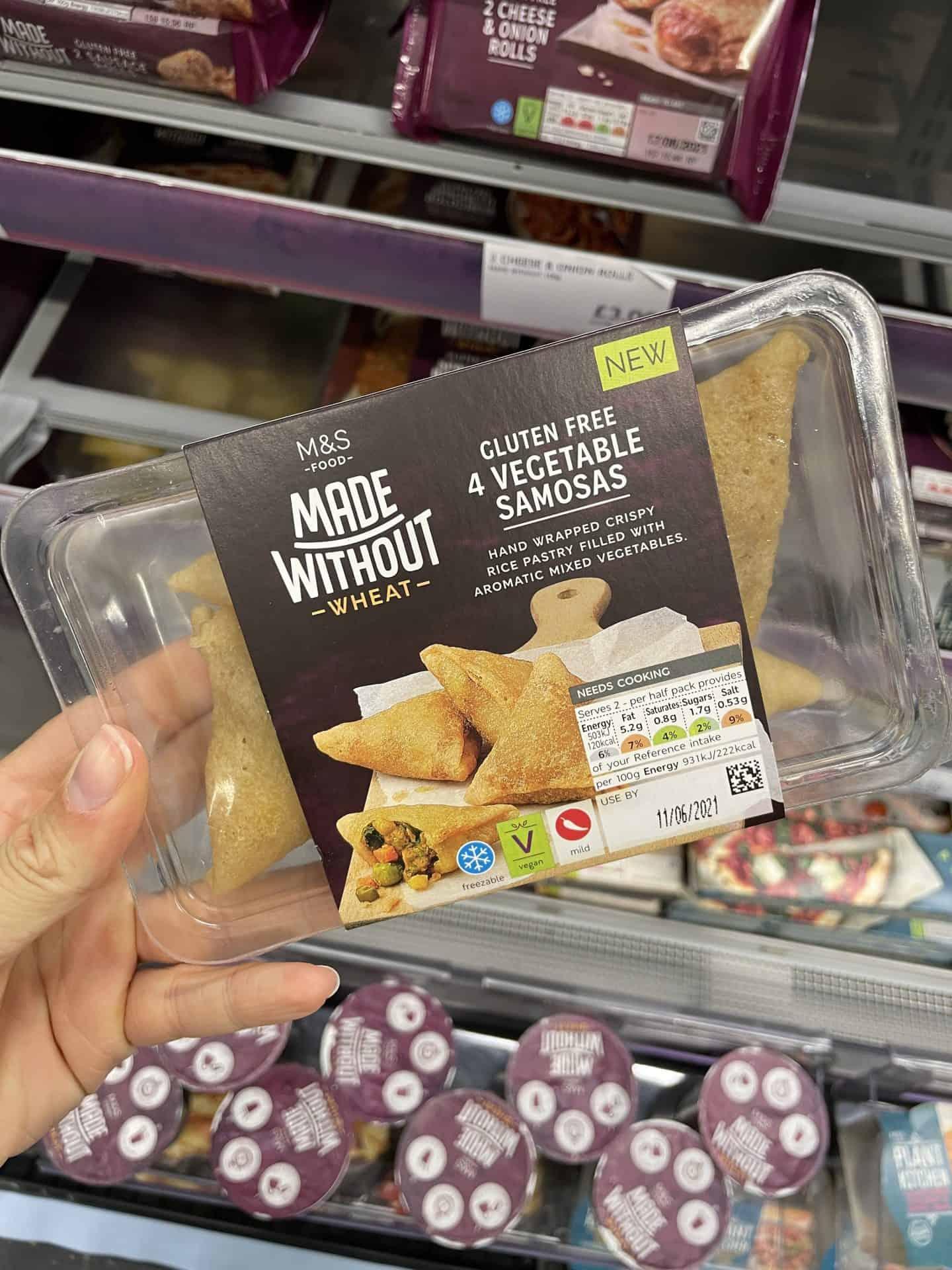 m&s gluten free samosas