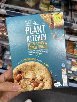 m&s plant kitchen vegan gluten free salted caramel cookie dough