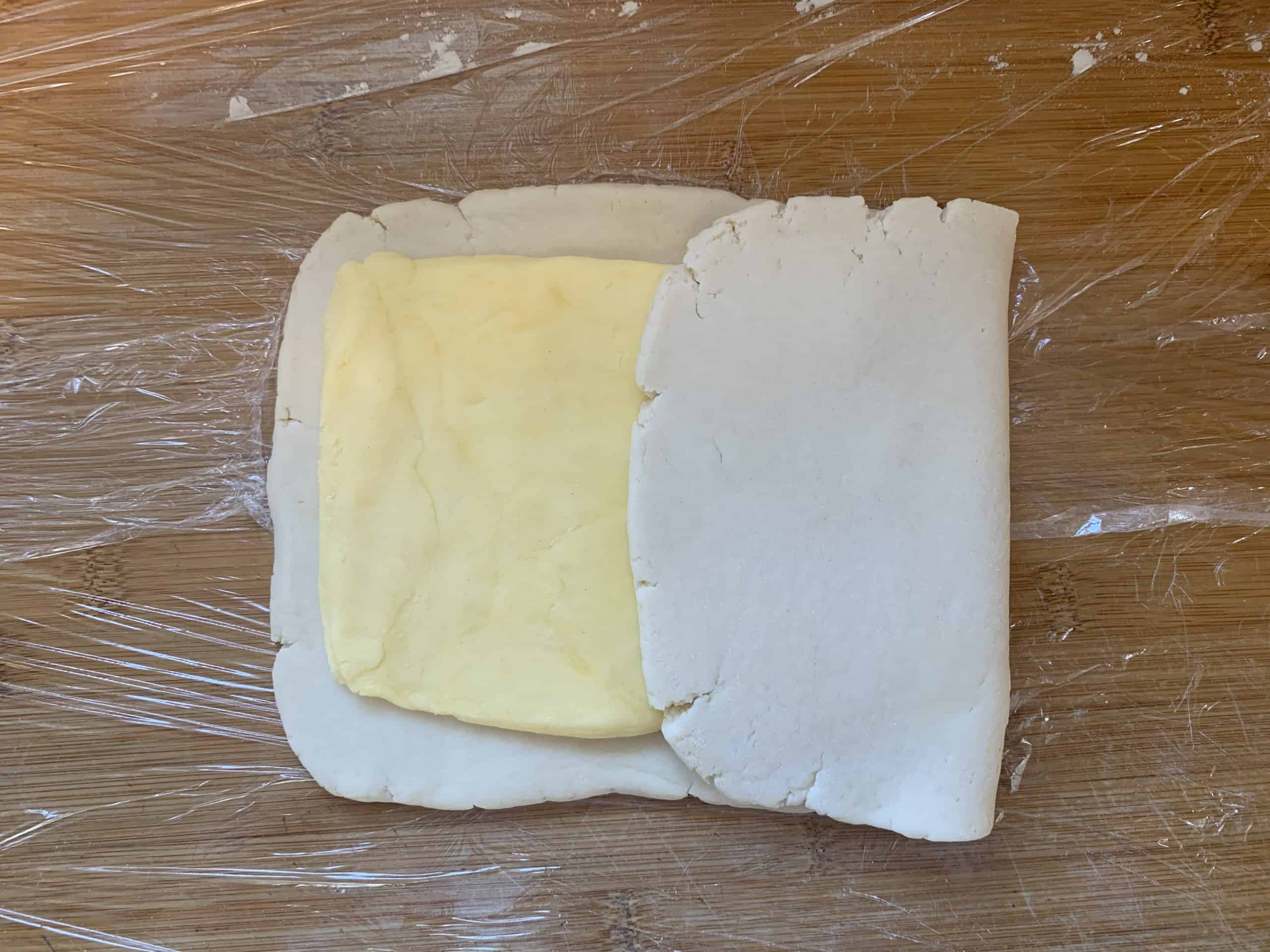 folding gluten free croissant dough