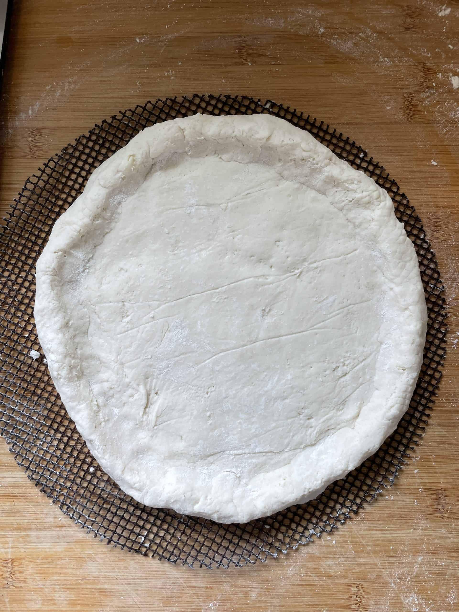 gluten free stuffed crust pizza step by step