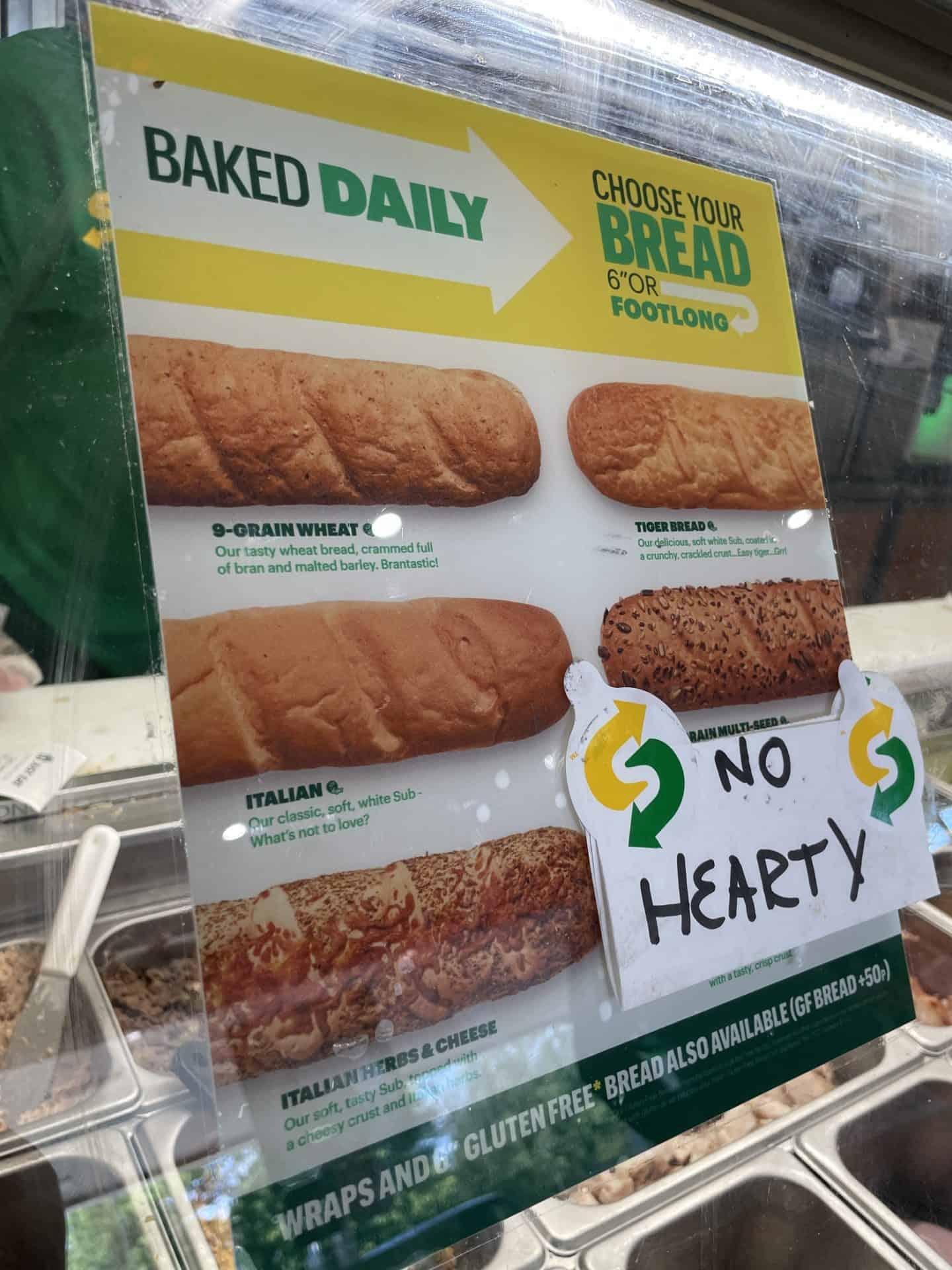 gluten free subway uk