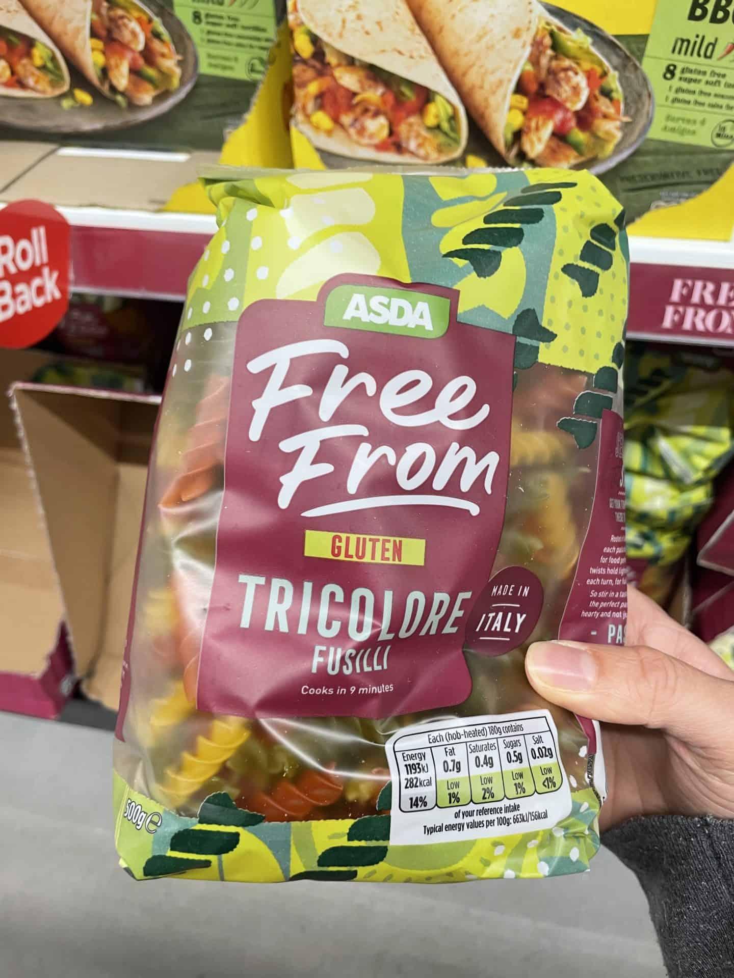 asda gluten free tricolore pasta