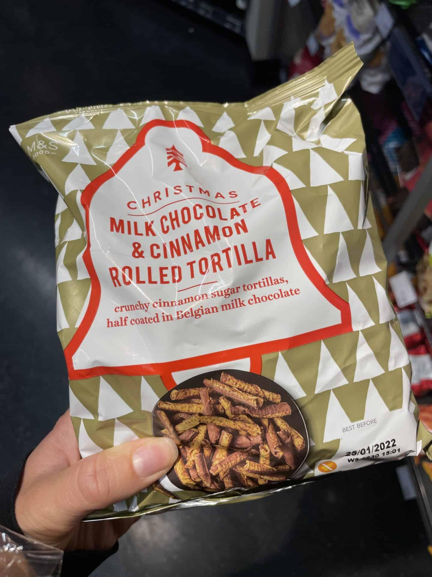 m&s cinnamon chocolate tortilla rolls