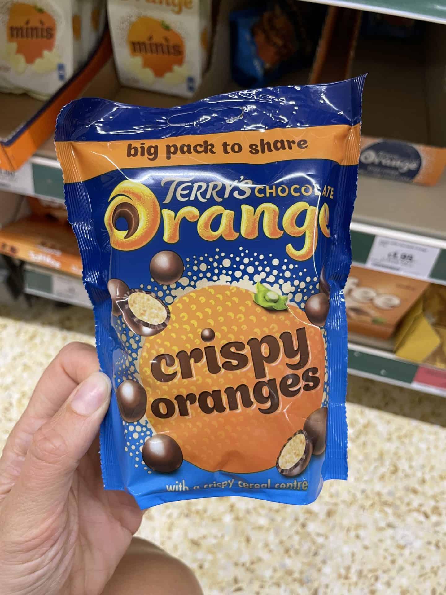 terrys chocolate orange crispy oranges gluten free