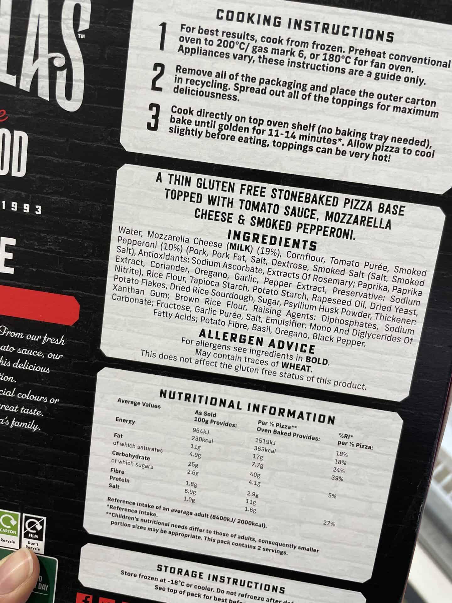 goodfellas gluten free contains wheat warning